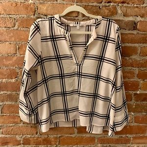 Collective Concepts Black & White Striped Blouse